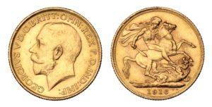 ZLATÝ Sovereign 1916 Melbourne Král Jiří – Nádherný