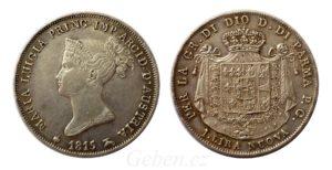 1 LIRA 1815 Maria Luigia - Vzácná