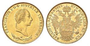 Sovráno 1831 M ! František II. Nádherný stav