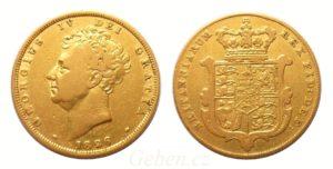 Sovereign 1826 ! George IV. VELMI VZÁCNÝ