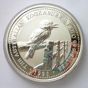 Nádherná stříbrná investiční mince KOOKABURRA 1998 - 1 KILO ! VZÁCNÉ