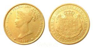 40 Lira 1821 ! Marie Luisa - Vzácná a krásná