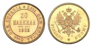 20 MARKKAA 1903 Mikuláš II. Vzácná !
