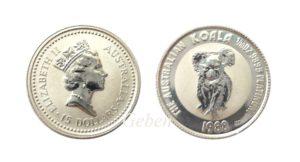 KOALA - Australia 1/10 Oz Platina rok 1988