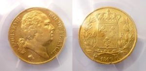 20 Frank 1819 A - Louis XVIII.