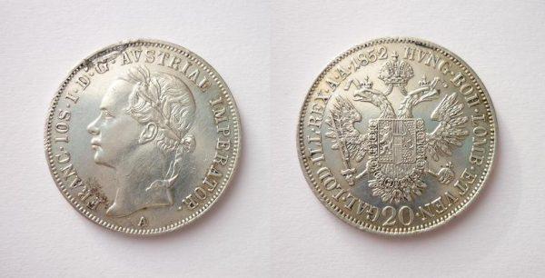 20 Krejcar 1852 A - hlava doleva ! R