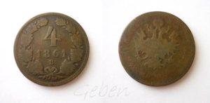 4 Krejcar 1861 B