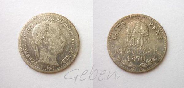 10 Krejcar 1870 K.B.