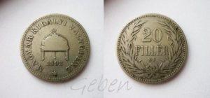 20 Filler 1892 KB Vzácný