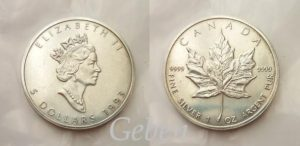 5 Dolar 1993 Maple Leaf 1 Oz