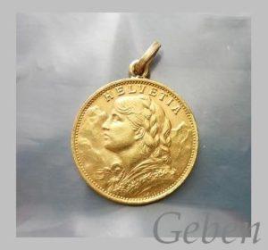 20 Frank 1927 šperk