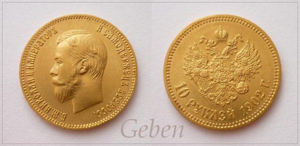10 RUBL 1902 Mikuláš II.