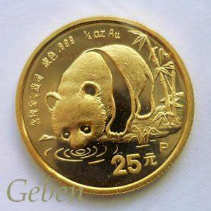 Vzácný 25 Yuan Panda 1987 - PROOF ! R