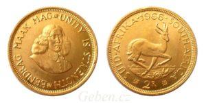 2 Rand 1966 Jižní Afrika - Jan van Riebeeck