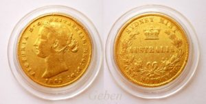 Sovereign 1863 Sydney - Victoria Young Head  AUSTRALIA