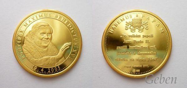 Pontifikační medaile - Benedikt XVI. 19. 4. 2005