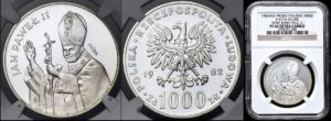 Proba 1000 Zlotych 1982 PF66 Ultra Cameo !