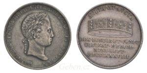 Ferdinand V. Velký žeton 1838 M - Nádherný a vzácný