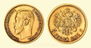 5 RUBL 1901 ФЗ Mikuláš II.
