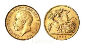 1/2 Sovereign 1926 SA král George V. Jižní Afrika