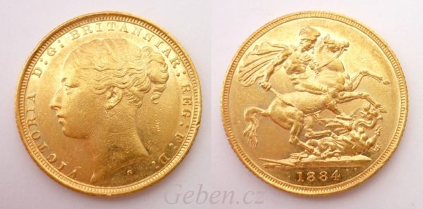 Sovereign 1884 Sy Victoria - Young Head