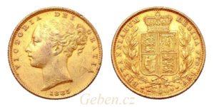 Sovereign 1885 Sy Victoria - Young Head / Štít