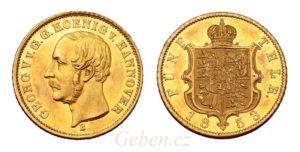 5 Thaler 1853 B - Braunschweig Calenberg Hannover. Georg V. 1851-1866