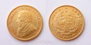 1/2 POND 1897 Kruger - Jižní Afrika - Velmi vzácný