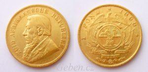 1 POND 1898 Kruger - Jižní Afrika - Vzácné