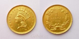 "1 Dollar 1861 ! ""Large Indian Head"""