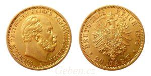 20 Mark 1875 A Wilhelm I.