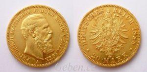 20 Marka 1888 A Friedrich III.
