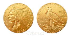 5 Dollar 1908 Indian Head - Philadelfia