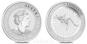 1 Oz KANGAROO - Stříbrná investiční mince