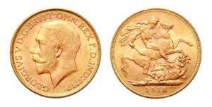 Sovereign - Libra 1918 INDIE ! Král Jiří – Nádherná a vzácná