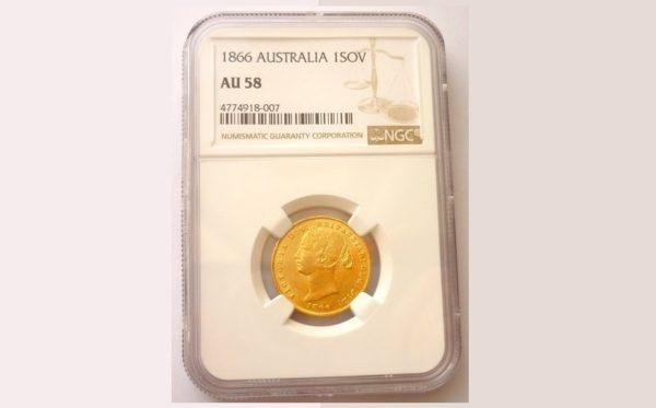 Sovereign 1866 (sy) ! Victoria Young Head AUSTRALIA