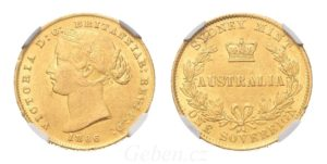 Sovereign 1866 (sy) ! Victoria Young Head AUSTRALIA