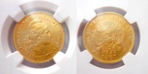 Argentino 5 Pesos 1887 Libertad