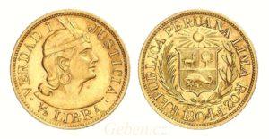 1/2 LIBRA 1904 - Peru Lima Vzácná