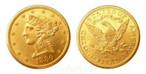 5 Dollars 1886 LIBERTY Head - San Francisco