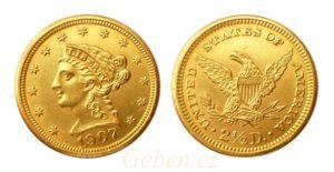 2 1/2 Dollars 1907 Coronet Head – Quarter Eagle