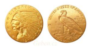 2 1/2 Dollars 1911 Indian Head – Quarter Eagle