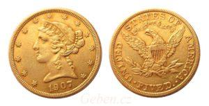 5 dollars 1907 Liberty