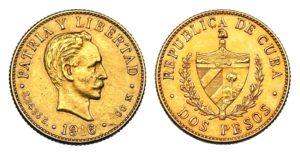 2 Pesos 1916 ! CUBA -- Vzácné