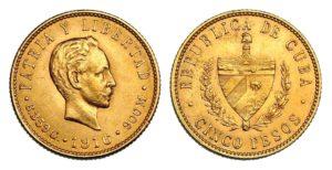 5 Peso 1916 ! CUBA Vzácné