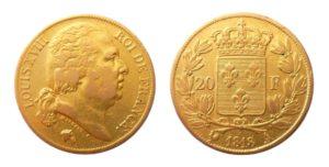 20 Frank 1818 A - Louis XVIII.