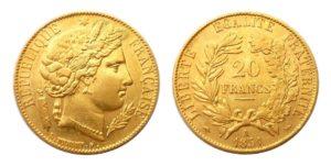 20 Frank 1851 A CERES - Nádherný
