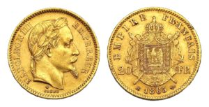 20 Frank 1865 BB - Napoleon III.