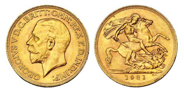 Sovereign 1931 SA král Jiří Jižní Afrika - Nádherný