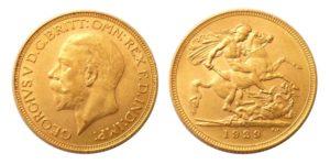 Sovereign 1929 SA král George V. Afrika - Nádherný